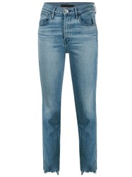 3X1 High Rise Straight Jeans Blue