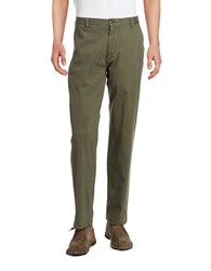Dockers Washed Khaki Classic Fit Flat Front Pant Dark Green