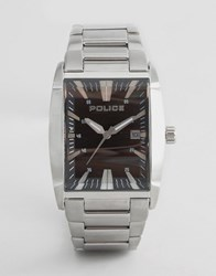 Police Avenue Stainless Watch Silver
