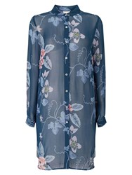 East Wednesday Print Tunic Top Blue Multi