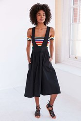 Silence And Noise Silence Noise Camden Apron Midi Skirt Black