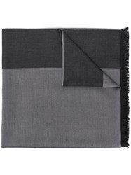 Emporio Armani Two Tone Scarf Grey