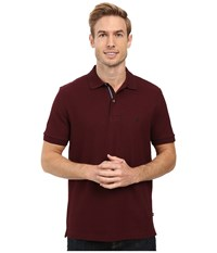 Nautica Short Sleeve Solid Deck Shirt Shipwreck Burgundy Men's Short Sleeve Knit