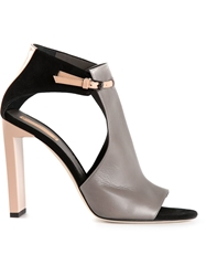 Reed Krakoff 'Atlas' Cut Out Sandals Grey