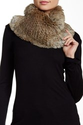 Dena Genuine Rex Rabbit Fur Shawl Brown