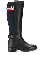 Tommy Hilfiger Blanket Detail Knee High Boots Black
