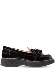 Tod's 35Mm Tasseled Patent Leather Loafers Black
