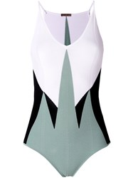 Bottega Veneta Geometric Bodysuit Multicolour