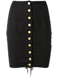 Jean Paul Gaultier Vintage Corseted Mini Skirt Black