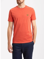 Lyle And Scott Plain Crew Neck T Shirt Flame Red Marl