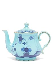 Richard Ginori Oriente Italiano Porcelain Tea Pot Blue Multi