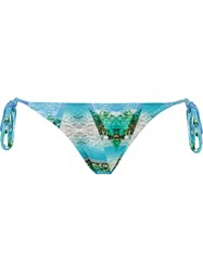 Blue Man Landscape Prism Side Tie Bikini Bottom