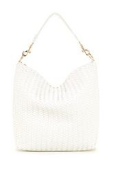 Deux Lux Mulberry Woven Slouch Hobo White
