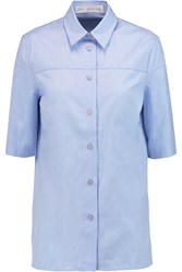 Victoria Beckham Cotton Poplin Shirt Blue