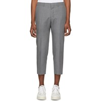 Ami Alexandre Mattiussi Grey Cropped Fit Trousers