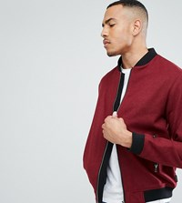 D Struct Tall Wool Bomber Jacket Red