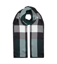 Burberry Shoes And Accessories House Check Silk Gauze Scarf Female Green