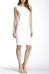 Hugo Boss Floral Trim Dress White