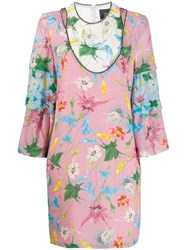 Class Roberto Cavalli Floral Print Shift Dress Pink