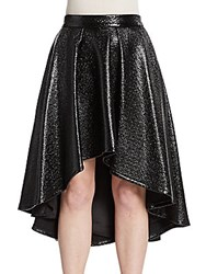 Abs By Allen Schwartz Coated Hi Lo Skirt Black