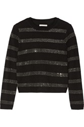Alice Olivia Karyn Embellished Wool Sweater Black