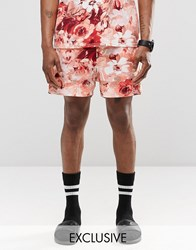 Reclaimed Vintage Shorts In Floral Print Orange