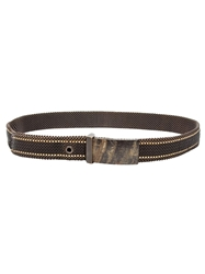 Laura B Stitch Trim Belt Black