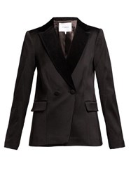 Frame Double Breasted Tuxedo Jacket Black