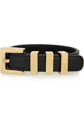 Saint Laurent Buckled Leather Bracelet Black