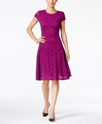 Alfani Petite Lace Fit And Flare Dress Only At Macy's Iris Glow