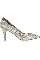 Isabel Marant Pealman Watersnake Pumps White