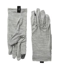 Smartwool Nts Micro 150 Pattern Gloves Silver Grey Heather Wool Gloves Gray