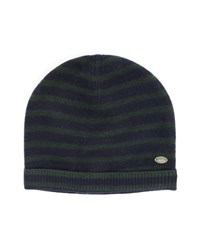 Scotch And Soda Navy And Green Striped Woollen Hat