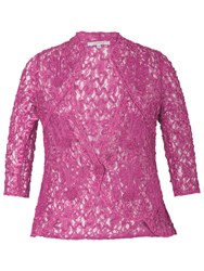 Chesca Lace Cornelli Embroidered Trim Jacket Hot Pink