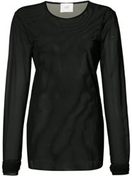 Just Female Longsleeved Sheer T Shirt Black
