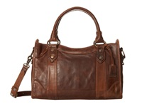 Frye Melissa Satchel Dark Brown Antique Pull Up Satchel Handbags