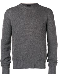 Prada Collar Insert Sweater Grey