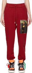 Off White Red Monalisa Lounge Pants