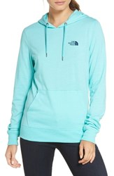 The North Face Graphic Hoodie Mint Blue Heather