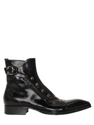 Jo Ghost Polished Leather Ankle Boots