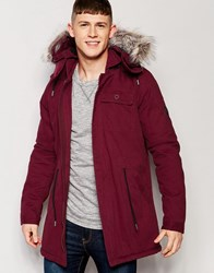 Native Youth Sherpa Lined Parka Red