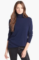 Women's Equipment 'Oscar' Cashmere Turtleneck Peacoat