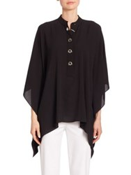 Michael Kors Key Lock Silk Tunic Black
