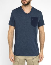 G Star Navy Varos Pocket V Neck T Shirt Blue