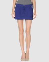Dyed Pretty Skirts Mini Skirts Women Blue