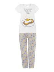 Therapy Sunshine Print Jersey Pj Set Multi Coloured