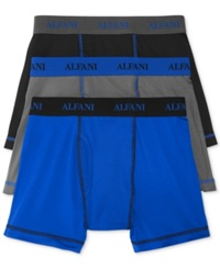Alfani Men's Athletic Boxer Briefs 3 Pack Power Blue