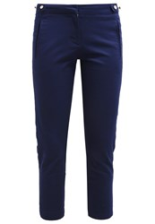 Morgan Piekas Trousers Navy Dark Blue