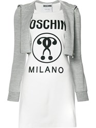 Moschino Hoodie Logo Dress Women Cotton Other Fibres 36 White