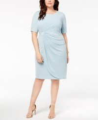 Connected Plus Size Solid Sarong Dress Lts